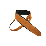 "Perri's 2.5"" Super Soft Suede Guitar Strap with 3.5"" Italian Leather Padding"