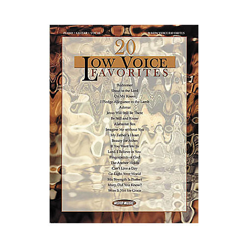 Word Music 20 Low Voice Favorites Piano/Vocal/Guitar Songbook