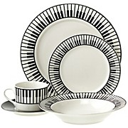 20-Piece Dinnerware Set with Keyboard Design