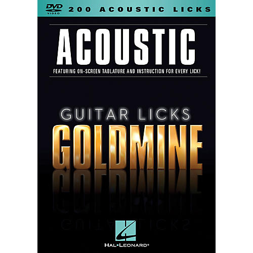 Hal Leonard 200 Acoustic Licks - Guitar Licks Goldmine DVD Series-thumbnail