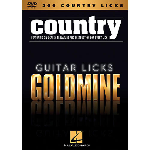 Hal Leonard 200 Country Licks - Guitar Licks Goldmine DVD Series-thumbnail