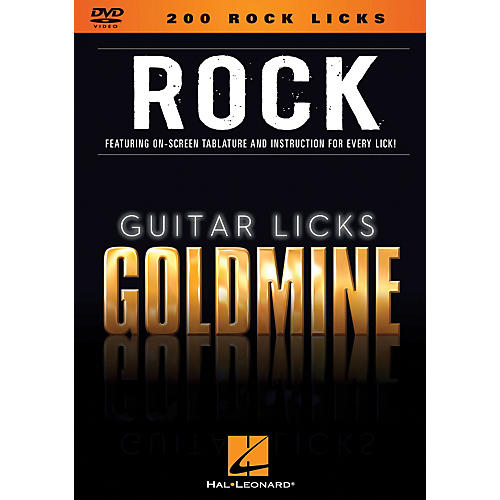 Hal Leonard 200 Rock Licks - Guitar Licks Goldmine DVD Series
