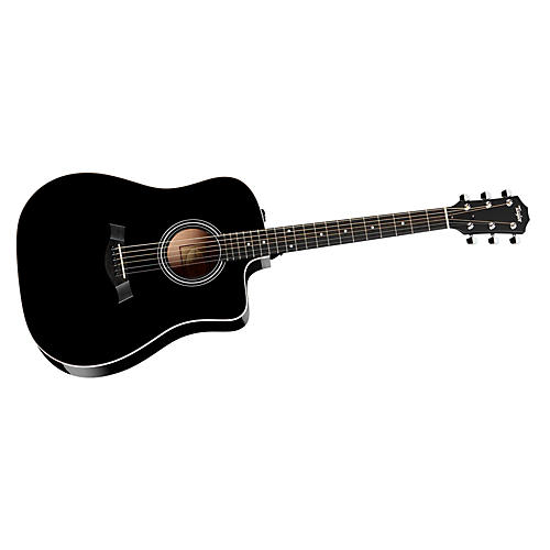 Taylor 200 Series 2014 210ce Dreadnought Acoustic-Electric Guitar Black