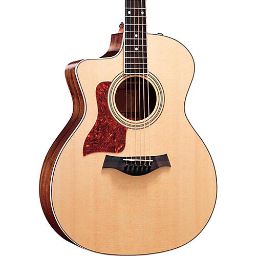 Taylor 200 Series 2014 214ce-L  Grand Auditorium Left-Handed Acoustic-Electric Guitar Natural