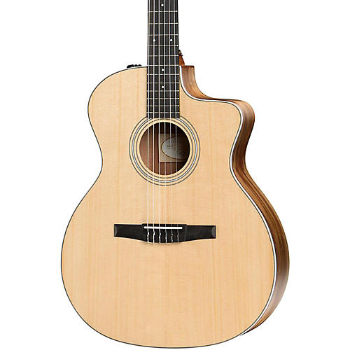 taylor 200 series 2017 214ce n grand auditorium nylon string acoustic electric guitar natural. Black Bedroom Furniture Sets. Home Design Ideas