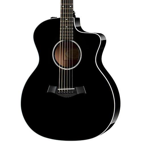 Taylor 200 Series 214ce DLX Grand Auditorium Acoustic-Electric Guitar Black