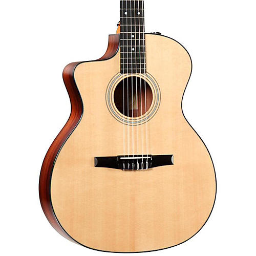 Taylor 200 Series 214ce-N-L Grand Auditorium Left-Handed Acoustic-Electric Nylon String Guitar Natural