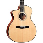 Taylor 200 Series 214ce-N-L Grand Auditorium Nylon String Left-Handed Acoustic-Electric Guitar