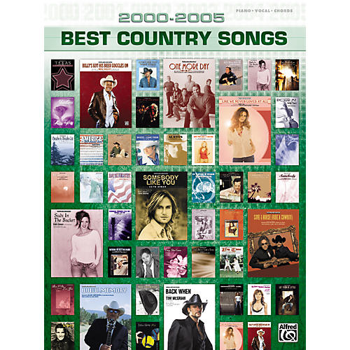 Alfred 2000-2005 Best Country Songs Piano, Vocal, Guitar Songbook