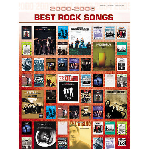 Alfred 2000-2005 Best Rock Songs Piano, Vocal, Guitar Songbook