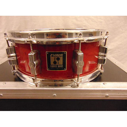 used sonor 2000s 5 5x14 force 3001 drum red laqcuer 10 guitar center. Black Bedroom Furniture Sets. Home Design Ideas