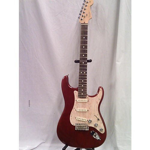 used fender 2002 american standard stratocaster solid body electric guitar satin red guitar center. Black Bedroom Furniture Sets. Home Design Ideas