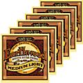 Ernie Ball 2003 Earthwood 80/20 Bronze Medium Light Acoustic Strings 6 Pack  Thumbnail