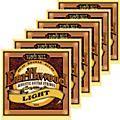 Ernie Ball 2004 Earthwood 80/20 Bronze Light Acoustic Guitar Strings 6 Pack-thumbnail