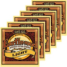 Ernie Ball 2004 Earthwood 80/20 Bronze Light Acoustic Guitar Strings 6 Pack