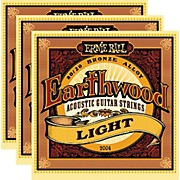2004 Earthwood 80/20 Bronze Light Acoustic Strings (3-Pack)