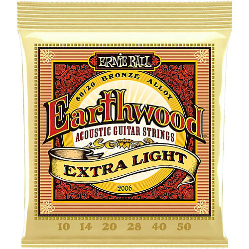 Ernie Ball 2006 Earthwood 80/20 Bronze Extra Light Acoustic Guitar Strings-thumbnail