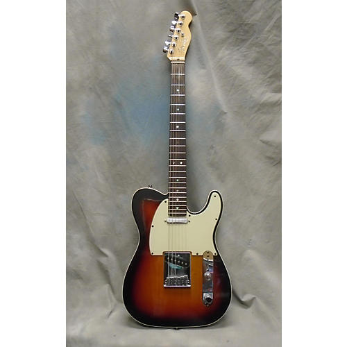 used fender 2007 american deluxe telecaster solid body electric guitar 3 tone sunburst guitar. Black Bedroom Furniture Sets. Home Design Ideas