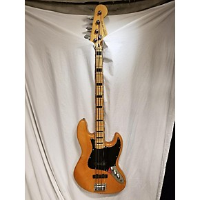 used squier 2007 vintage modified 70s jazz bass electric bass guitar natural guitar center. Black Bedroom Furniture Sets. Home Design Ideas