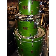 Pork Pie USA 2008 MAPLE CUSTOM MOSS GREEN USA Drum Kit
