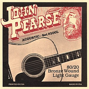 John Pearse 200L 80/20 Bronze Acoustic Guitar Strings by John Pearse