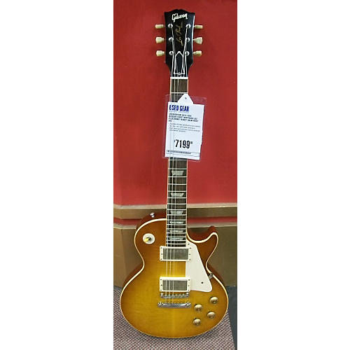 Gibson 2010 1959 Reissue Burst Brothers Les Paul Solid Body Electric Guitar Honey Burst