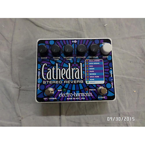 Electro-Harmonix 2010s Cathedral Stereo Reverb Effect Pedal