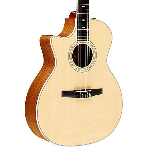 Taylor 2012 414ce-N-L Ovangkol/Spruce Nylon String Grand Auditorium Left-Handed Acoustic-Electric Guitar