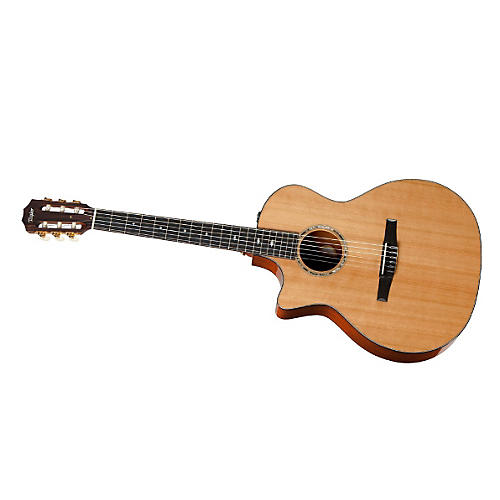 Taylor 2012 514ce-N-L Mahogany/Cedar Nylon String Grand Auditorium Left-Handed Acoustic-Electric Guitar