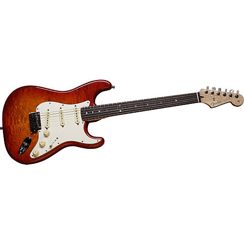 Fender Custom Shop 2012 Custom Deluxe Stratocaster Electric Guitar Faded Cherry Burst Rosewood Fretboard