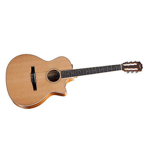 Taylor 2012 Fall Limited 414ce-N-FLTD Grand Auditorium Nylon String Acoustic-Electric Guitar Natural