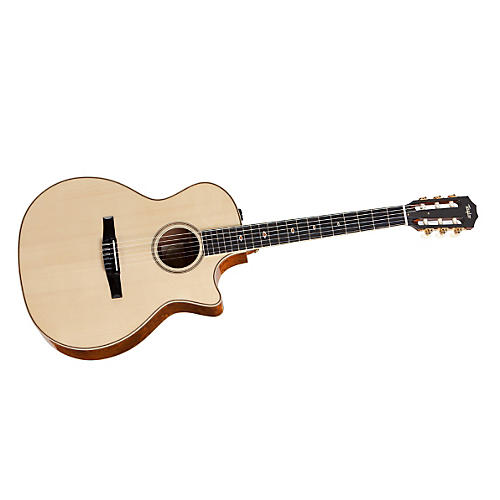 Taylor 2012 Fall Limited Grand Auditorium Quilt Sapele Nylon String Acoustic-Electric Guitar Natural