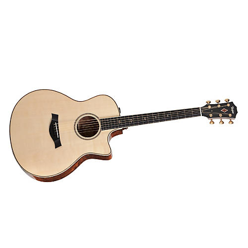 Taylor 2012 Fall Limited Grand Symphony Quilt Sapele Acoustic-Electric Guitar Natural