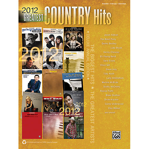 Alfred 2012 Greatest Country Hits PVC Book