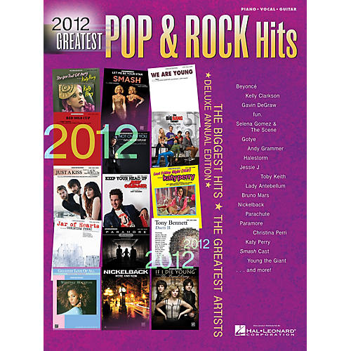 Hal Leonard 2012 Greatest Pop & Rock Hits(pvg)# Piano/Vocal/Guitar Songbook Series
