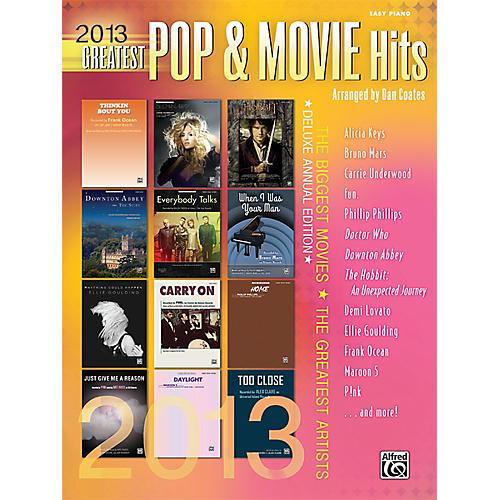Alfred 2013 Greatest Pop & Movie Hits Easy Piano Book-thumbnail