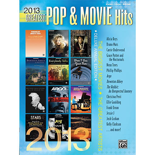 Alfred 2013 Greatest Pop & Movie Hits P/V/C Book