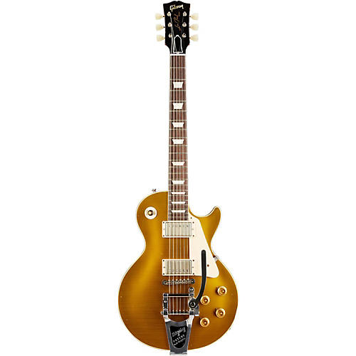 Gibson Custom 2014 1957 Les Paul Reissue Lightly Aged Electric Guitar with Bigsby Antique Gold