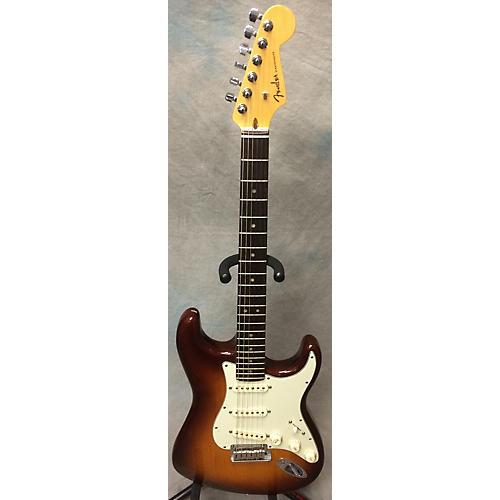 Fender 2014 American Deluxe Stratocaster Solid Body Electric Guitar Tobacco Sunburst