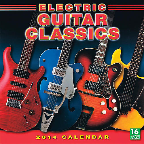 Hal Leonard 2014 Electric Guitar Classics 16-Month Wall Calendar-thumbnail