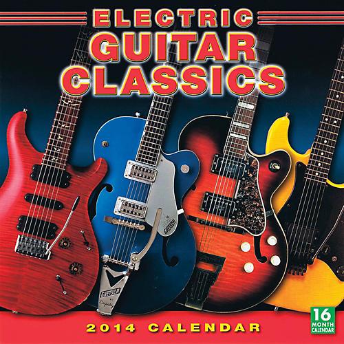 Hal Leonard 2014 Electric Guitar Classics 16-Month Wall Calendar