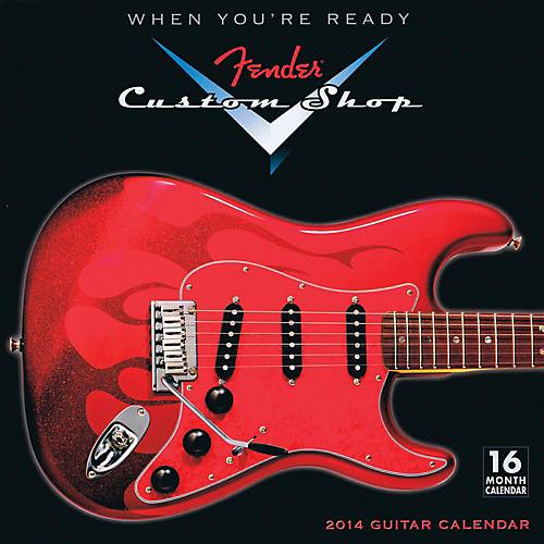Hal Leonard 2014 Fender Custom Shop 16-Month Wall Calendar-thumbnail