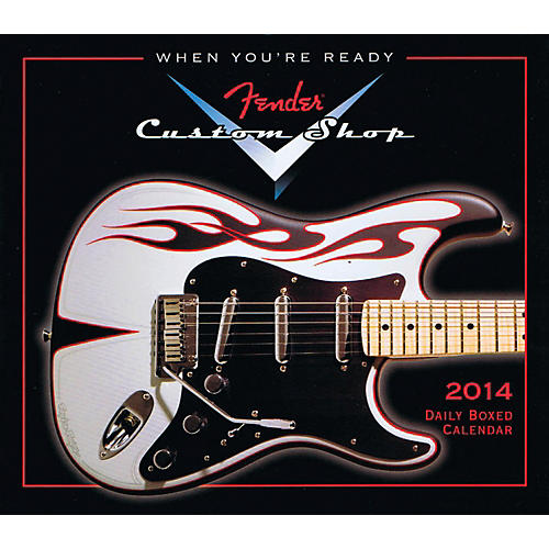 Hal Leonard 2014 Fender Custom Shop Daily Boxed Calendar
