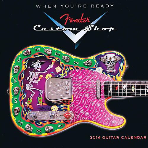 Hal Leonard 2014 Fender Custom Shop Mini Wall Calendar