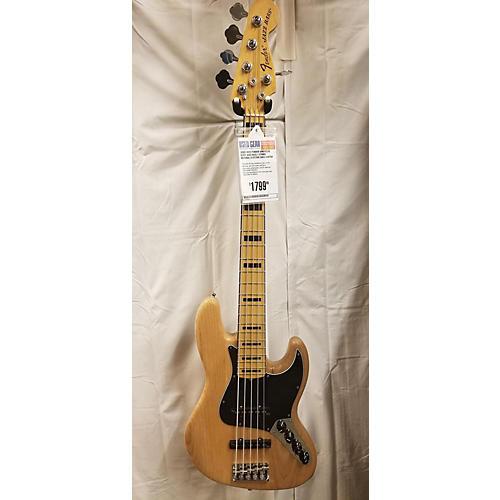 used fender 2015 american elite jazz bass 5 string electric bass guitar natural guitar center. Black Bedroom Furniture Sets. Home Design Ideas