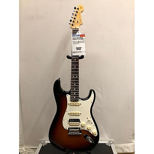 used fender 2015 american standard stratocaster hss shawbucker solid body electric guitar 3 tone. Black Bedroom Furniture Sets. Home Design Ideas