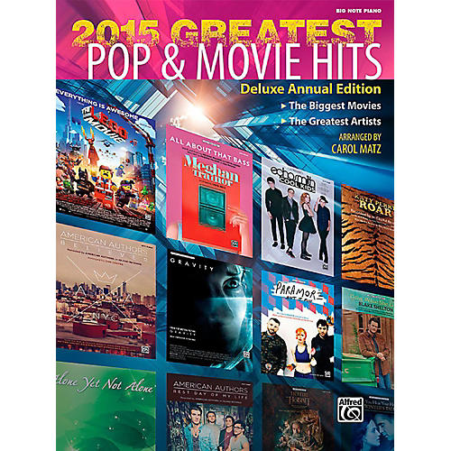 Alfred 2015 Greatest Pop & Movie Hits - Big Note Piano Songbook-thumbnail