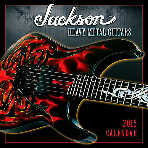 Hal Leonard 2015 Jackson Heavy Metal Guitars 12 Month Wall Calendar