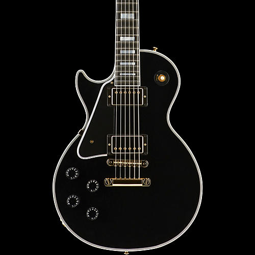 Gibson Custom 2015 Les Paul Custom Left-Handed Electric Guitar Ebony