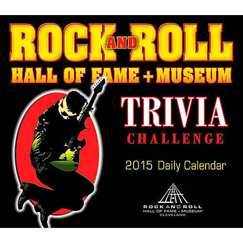 Hal Leonard 2015 Rock And Roll Hall Of Fame Trivia Challenge Daily Boxed Calendar